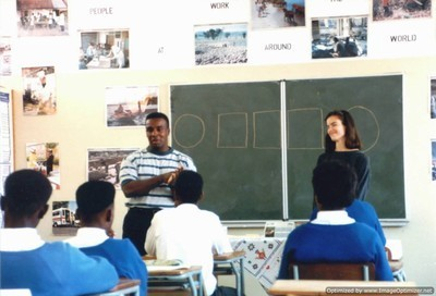Couple teaching high school in Africa