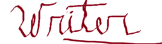 "the single, handwritten word ""Writer"""