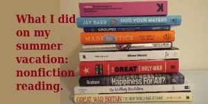 Stack of nonfiction books