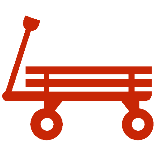 A red wagon