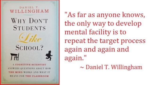 Quote: As far as anyone knows, the only way to develop mental facility is to repeat the target process again and again and again.