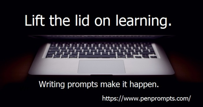 Lift the lid on learning is slogan over image of partially open laptop computer.