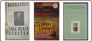 covers of 3 works of literary fiction