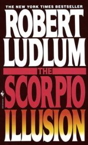 front dust jacket of 1993 novel The Scorpio Illusion