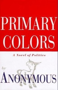 donkey on Primary Colors dust jacket