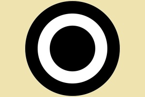 Target with unusually large bull's eye