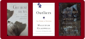 covers of 3 featured works of literary nonfiction