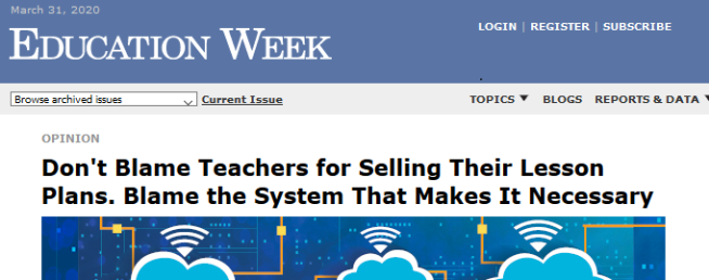 header from Education Week article