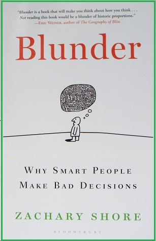"Cover of Shore's book ""Blunder"""