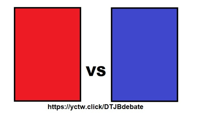 Whitered and blue rectangles representing Trump and Biden