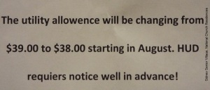 photo of two sentences of a notice to renters.