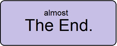 Sign: almost the end