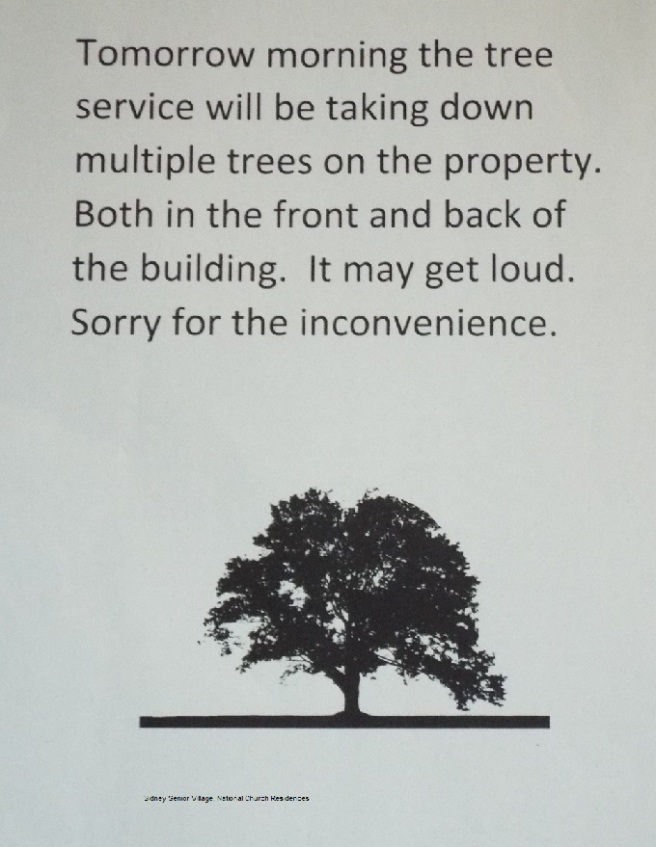 memo about tree-cutting